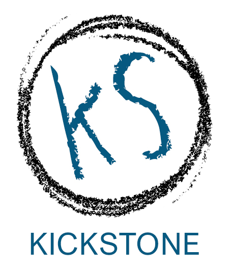 Kickstone publisher logo design